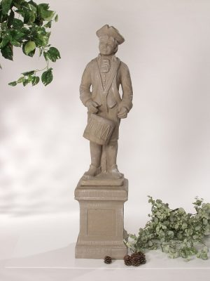 Statue de jardin de garçon au tambour