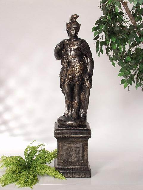 Statue de jardin de soldat romain