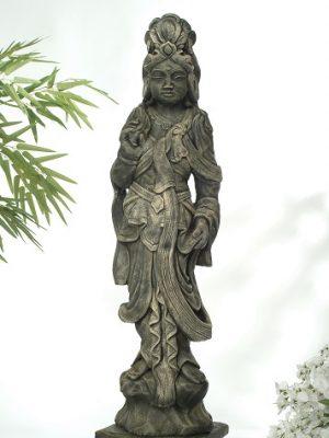 Statue de jardin de grande femme orientale