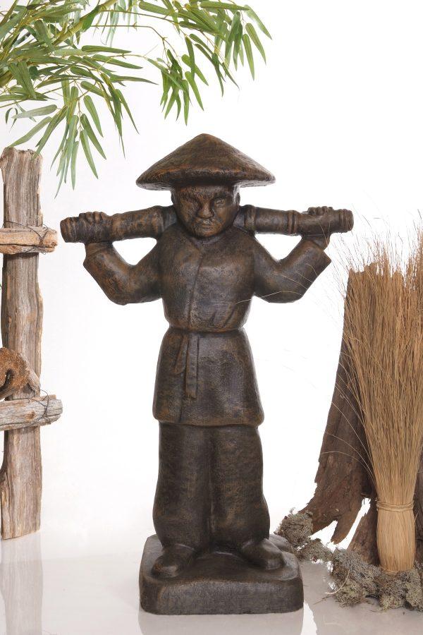 Statue de jardin de porteur d'eau