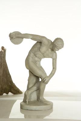 Statue de jardin de lanceur de disque