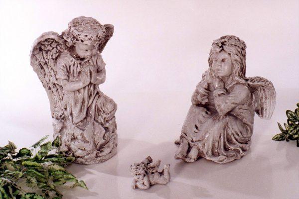 Statue de jardin d'ange sculpté