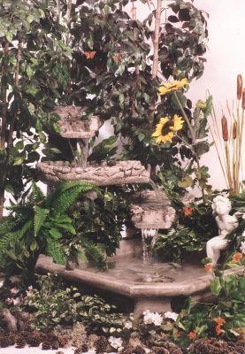 Fontaine trois chutes avec tournerol