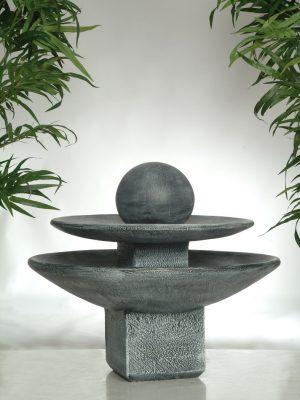 Fontaine ronde 2 étages boule