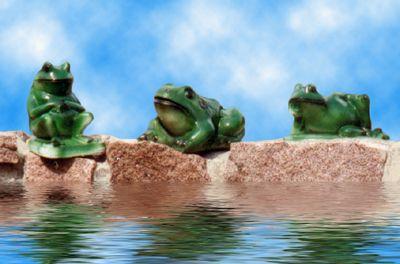 Statues de jardin de grenouilles