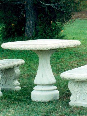 Table rectangulaire pour jardin avec 2 bancs