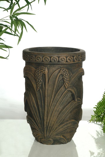 Pot à fleurs avec marguerites et feuilles