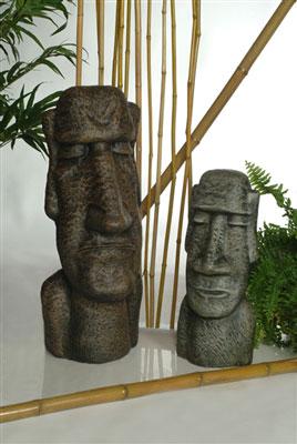 Statues de jardin de l'ile de Paques