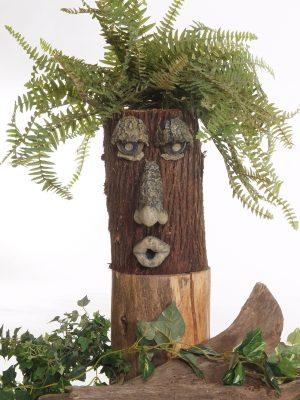 Face d'arbre 4 pièces avec feuillage