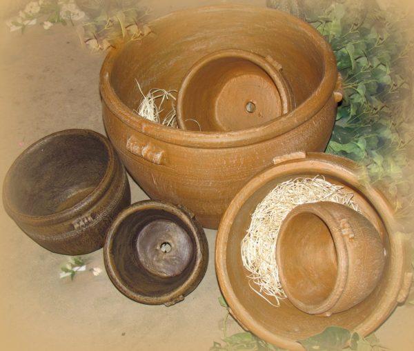 Ensemble de pots à fleurs ronds Joalie