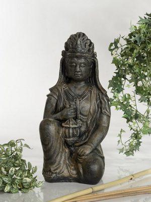 Statue de jardin Bouddha Lampet