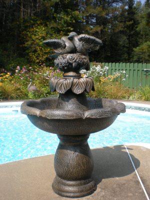 Fontaine extérieur Abby Tourterelle