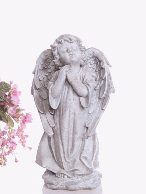 Statue de jardin  ange main jointe