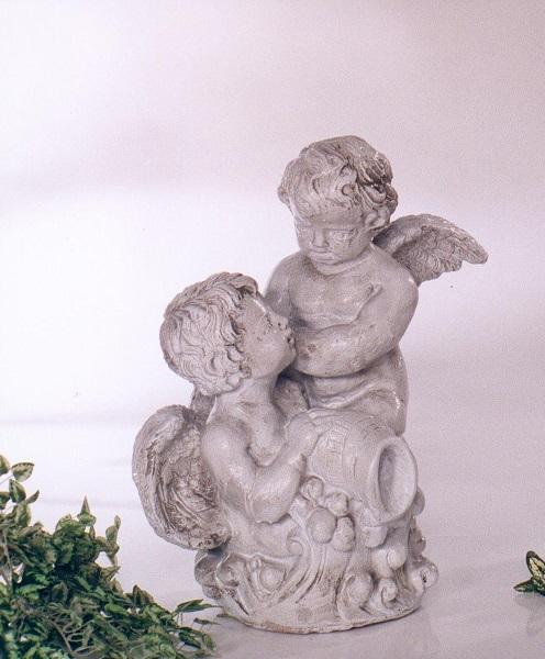 Statue de jardin deux anges blanc