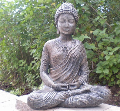 Statue de jardin - Bouddha Assis indonésien