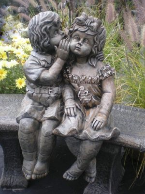 Statue de jardin Dephnee et Theo