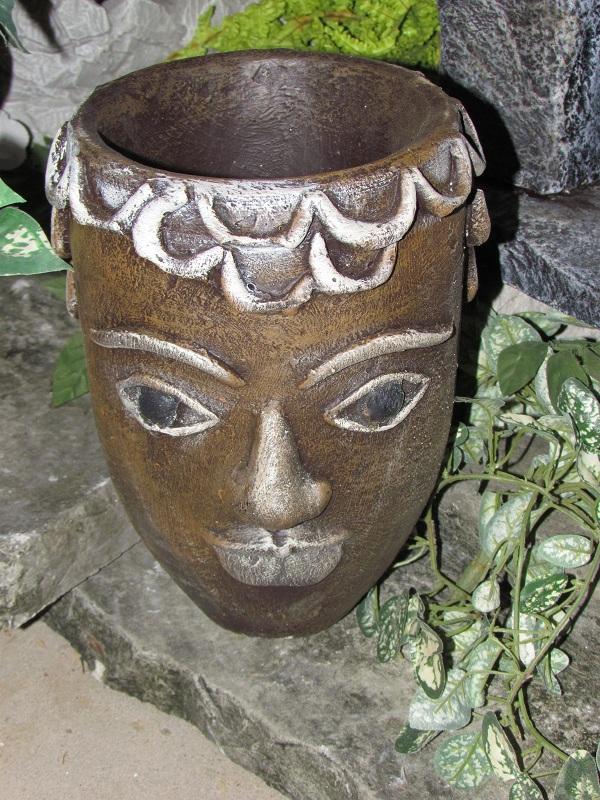 Pot à fleur avec face bouclette
