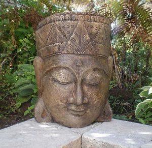 Statue de jardin Face de bouddha