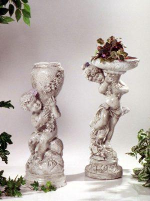 Statue de jardin - Fille et garçon avec pot