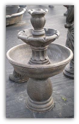 Fontaine tulipe 2 bassins