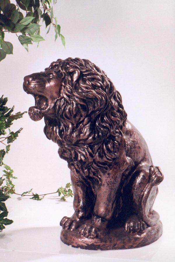 Statue de jardin lion style bronze