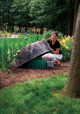 Roche artificielle pour le jardin