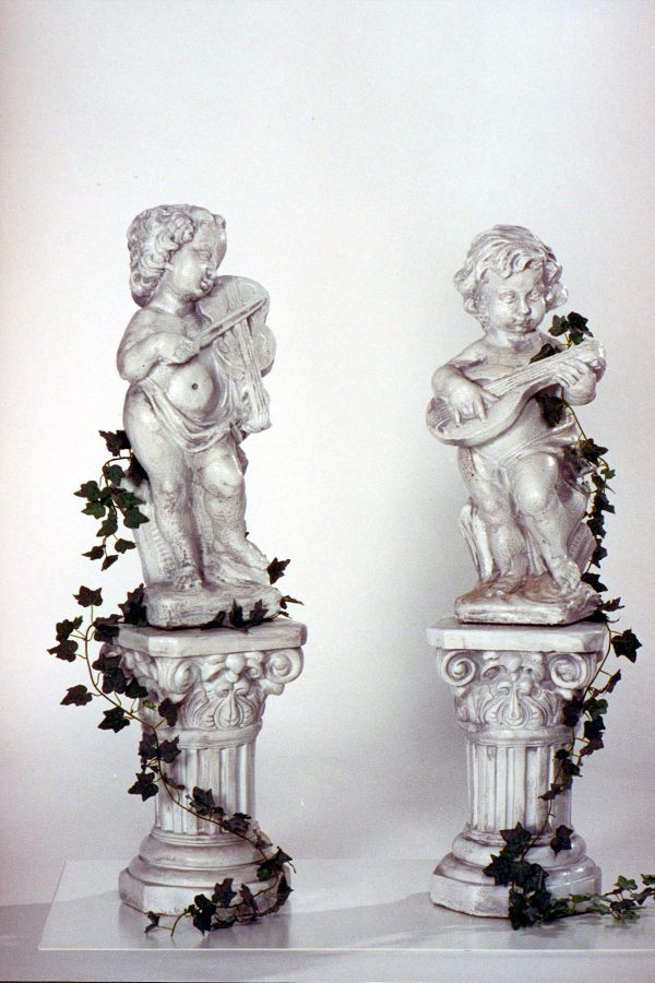 Statue de jardin - Musicien violoneux