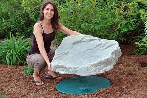 Petite roche artificielle pour fosse