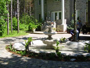 Grande fontaine beige
