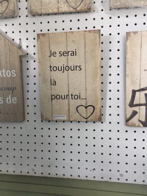 Affiches de bois